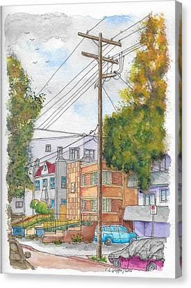 Phole Pole In Hawthorn And Fuller, Hollywood, California Canvas Print by Carlos G Groppa