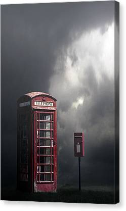 Phone Box With Letter Box Canvas Print by Joana Kruse