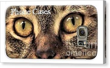 Canvas Print featuring the photograph Phone Cases by Debbie Stahre