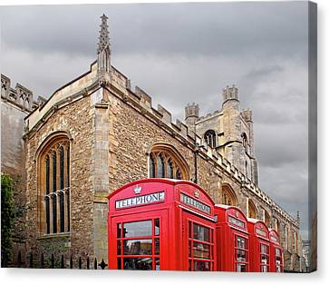 Great Cities Universities Canvas Print - Phone Home - Gt St Marys Church Cambridge by Gill Billington