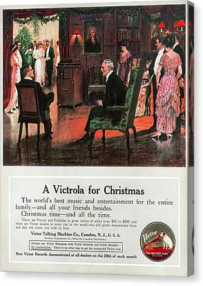 Phonograph, 1914 Canvas Print by Granger