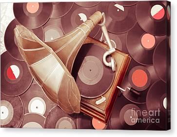Phonograph Music Player Canvas Print