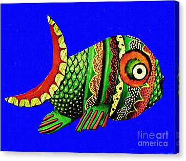 Fanciful Canvas Print - Phred Phish by Sarah Loft