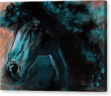 Sean Horse Canvas Print - Phthalo by Sean Parnell