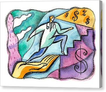 Physician And Money Canvas Print by Leon Zernitsky