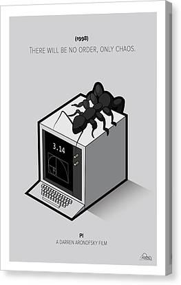 Pi Movie Cube Canvas Print by Mirta Rotondo