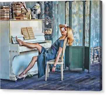 Pianist Canvas Print by Mariia Kalinichenko