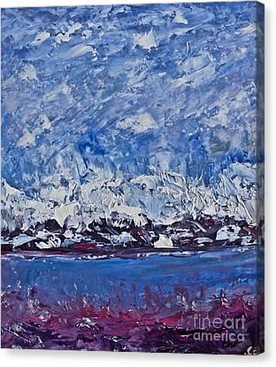 Pallet Knife Canvas Print - Piankatank  Snowstorm by Tim Lent