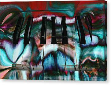 Piano Colors Canvas Print by Linda Sannuti