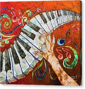 Piano Crazy Fingers - Special 3  Canvas Print by Sue Duda