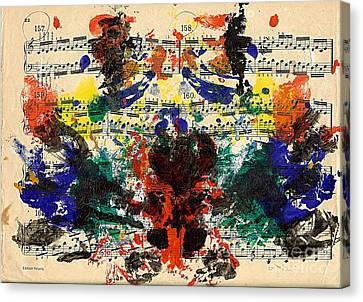 Piano Exercises 1 Canvas Print