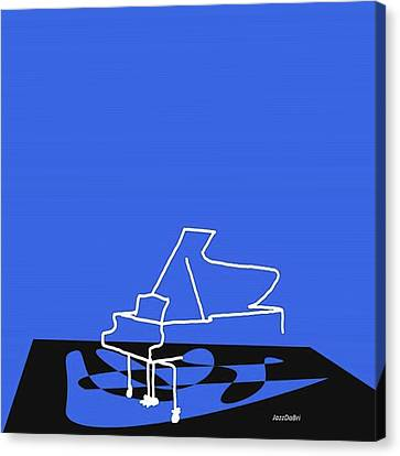 Piano In Blue Prints Available At Canvas Print by Jazz DaBri