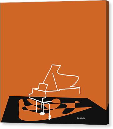 Piano In Orange Canvas Print by David Bridburg
