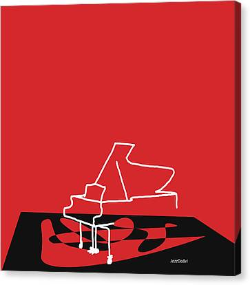 Piano In Red Canvas Print by David Bridburg