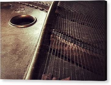 Piano, Inside The Music Canvas Print by Paul Wilford