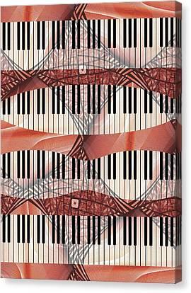 Piano - Keyboard - Musical Instruments Canvas Print