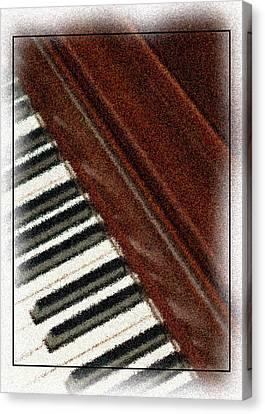 Piano Keys Canvas Print by Carolyn Marshall