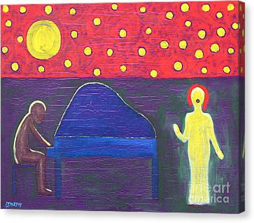 Piano Player And Singer Canvas Print by Patrick J Murphy
