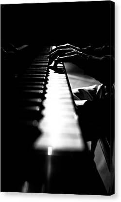 Piano Player Canvas Print by Scott Sawyer