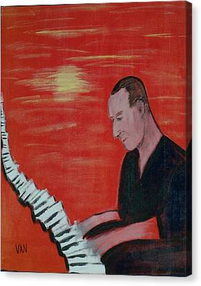 Piano Player Canvas Print by Van Winslow