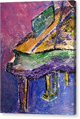 Piano Purple - Cropped Canvas Print by Anita Burgermeister
