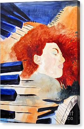 Piano Canvas Print by Sandy McIntire