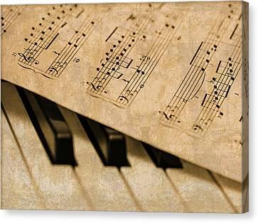 Piano Sheet Music Canvas Print