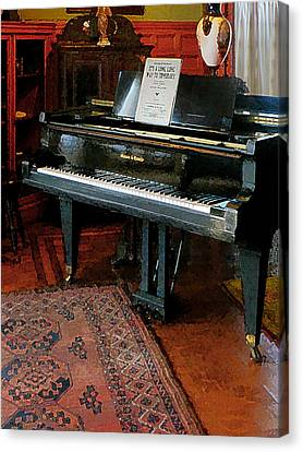 Piano With Sheet Music Canvas Print by Susan Savad