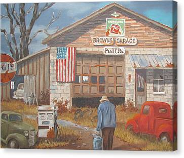 Piatt Pa. Garage Canvas Print