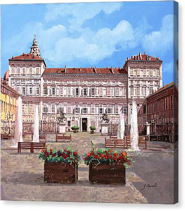 piazza Castello Canvas Print by Guido Borelli