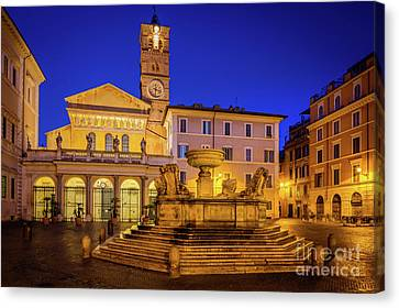 Piazza Di Santa Maria Canvas Print by Inge Johnsson