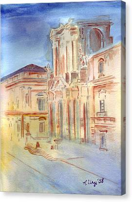 Piazza Duomo Canvas Print by Rene Ury