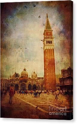 Piazza San Marco - Venice Canvas Print by Silvia Ganora