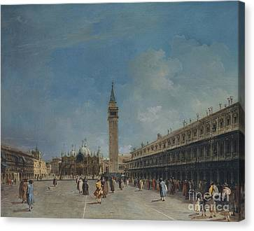 Piazza San Marco, 1760 Canvas Print by Francesco Guardi