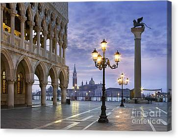 Piazza San Marco - Venice Canvas Print by Rod McLean