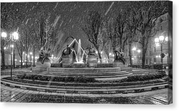 Piazza Solferino In Winter-1 Canvas Print