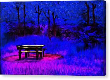 Chairs Canvas Print - Pic-nic Blue - Da by Leonardo Digenio