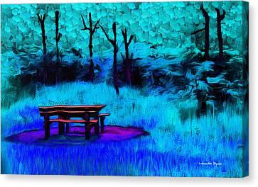 Pic-nic Cyan - Pa Canvas Print