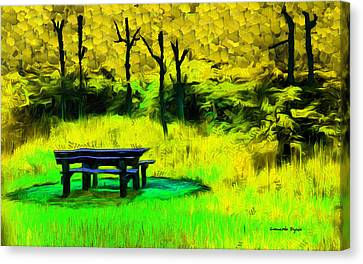 Pic-nic Yellow - Da Canvas Print by Leonardo Digenio