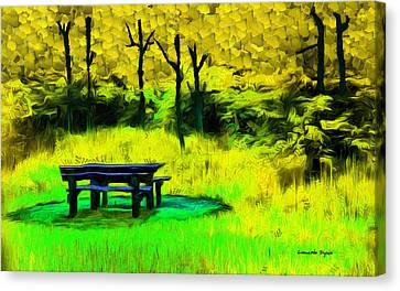 Pic-nic Yellow - Pa Canvas Print by Leonardo Digenio