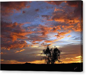 Picacho Peak Sunset II Canvas Print by Kurt Van Wagner