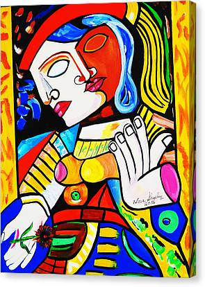 Picasso By Nora Turkish Man Canvas Print