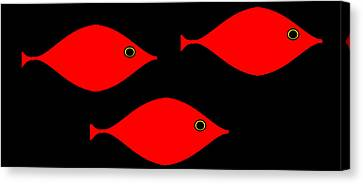 Canvas Print featuring the digital art Picasso's Fish by Cletis Stump