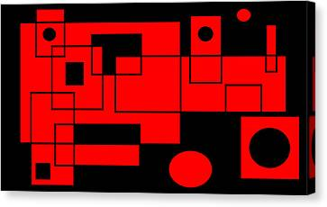 Canvas Print featuring the digital art Picasso's Train by Cletis Stump