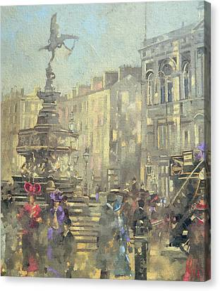 Piccadilly Circus Canvas Print by Peter Miller
