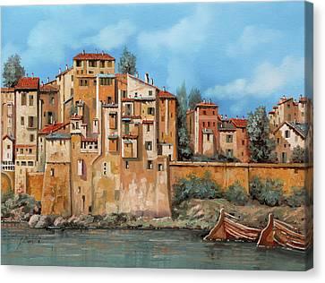 Piccole Case Sul Fiume Canvas Print