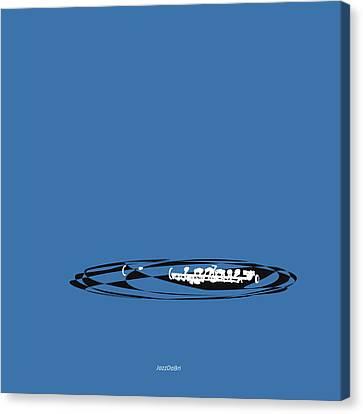Piccolo In Blue Canvas Print by David Bridburg