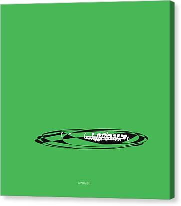 Piccolo In Green Canvas Print by David Bridburg