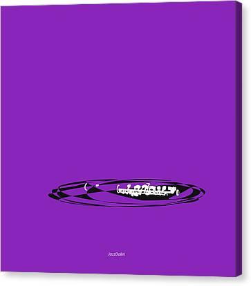 Piccolo In Purple Canvas Print by David Bridburg