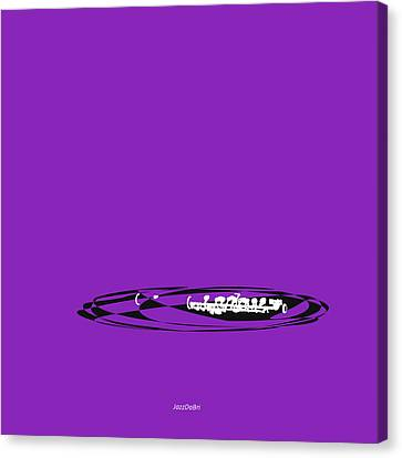 Piccolo In Purple Canvas Print by David Bridburg